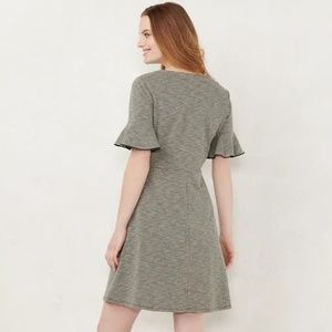 Lauren Conrad Button Fit & Flare Dress